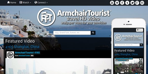 ArmchairTourist Website Re-design