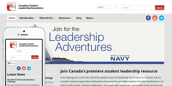 Mobile Friendly WordPress Upgrade for StudentLeadership.ca