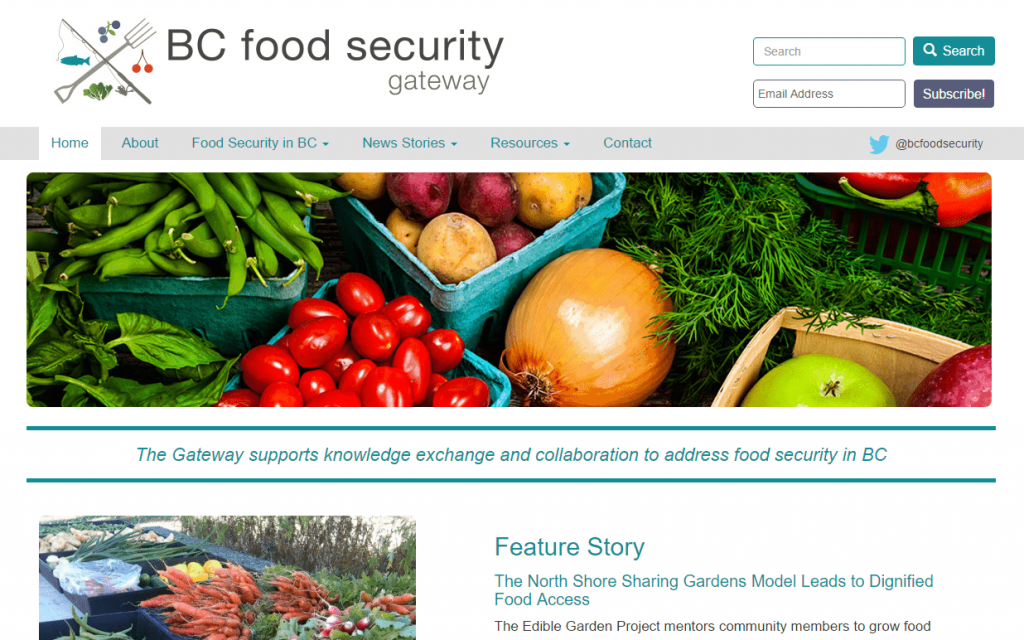 BC Food Security Gateway