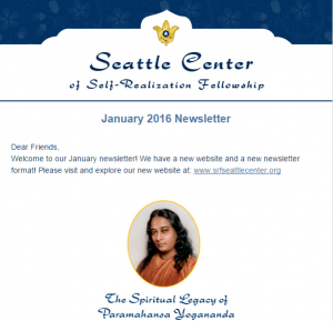 Seattle Center of SRF's mail chimp template